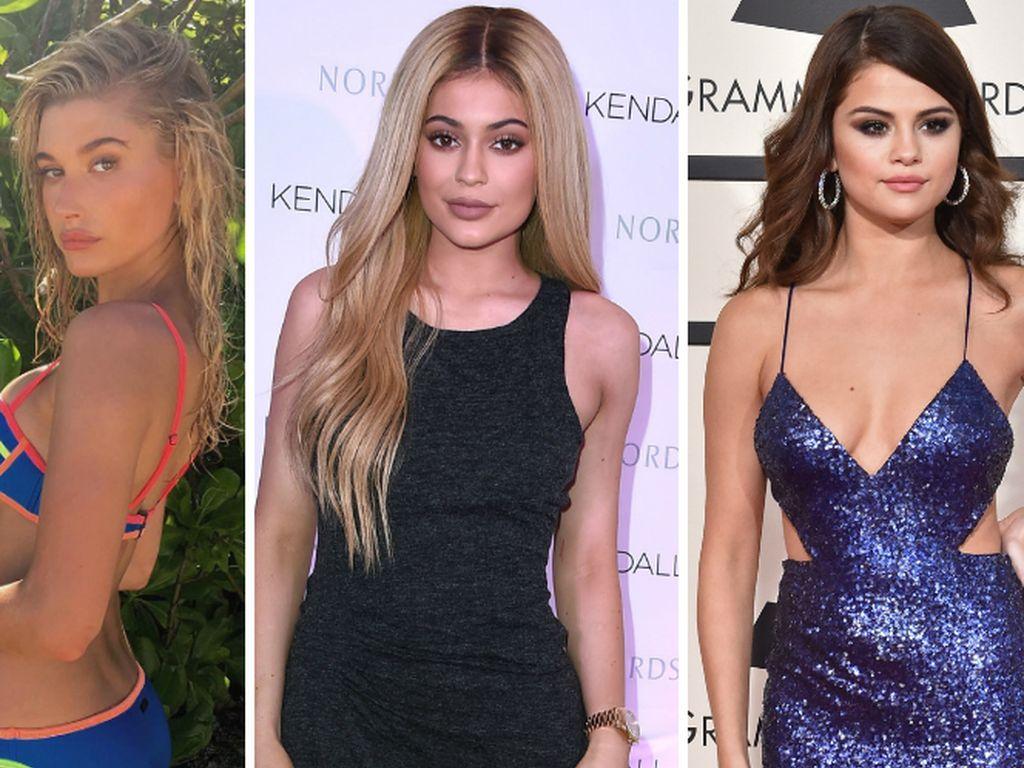Selena Gomez, Kylie Jenner und Hailey Baldwin