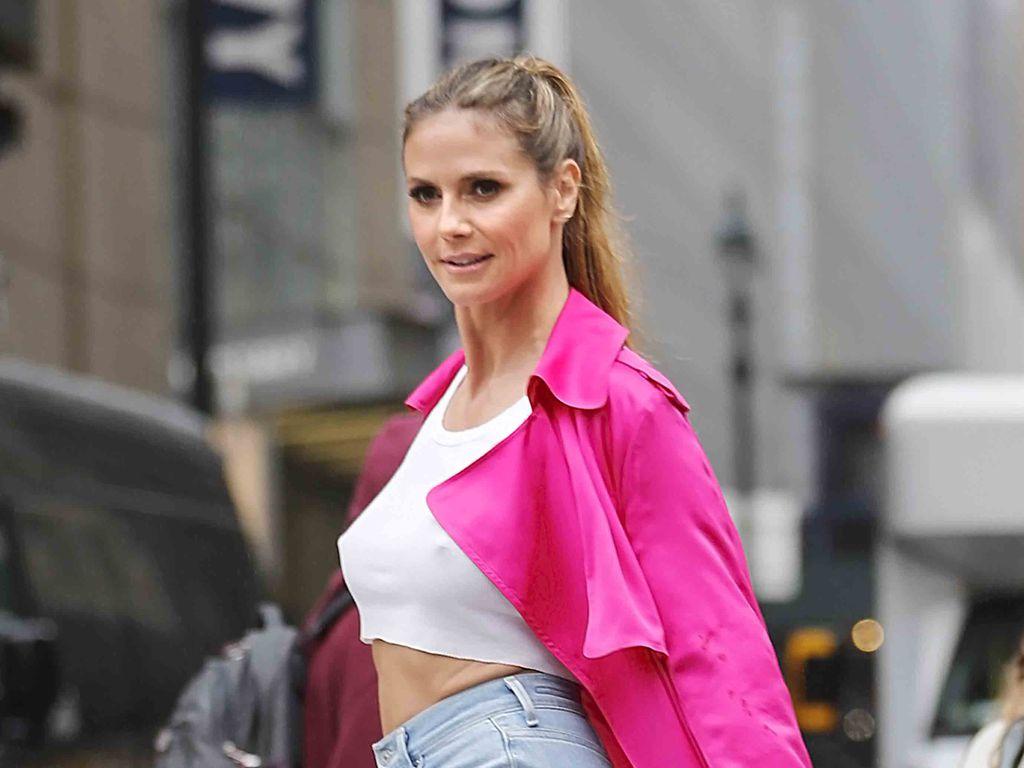 Heidi Klum bei einem Fotoshooting in New York