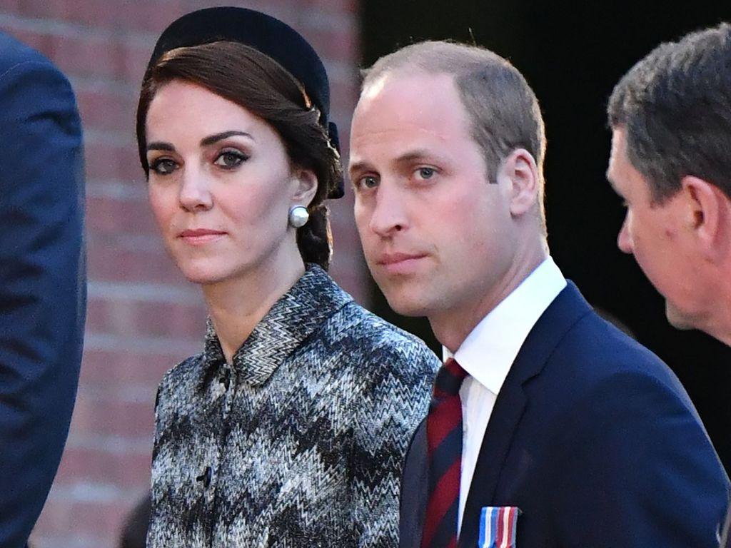 Herzogin Kate und Prinz William bei einer Gedenkfeier in Frankreich