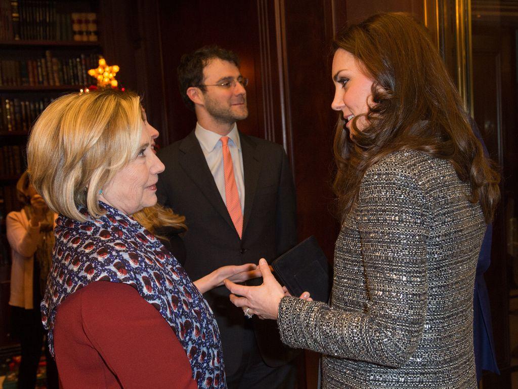 Herzogin Kate und Hillary Clinton