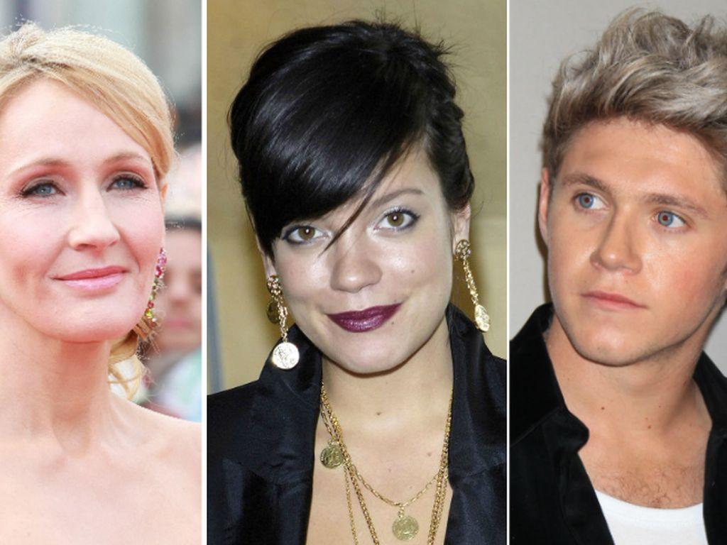 J.K. Rowling, Lily Allen und Niall Horan