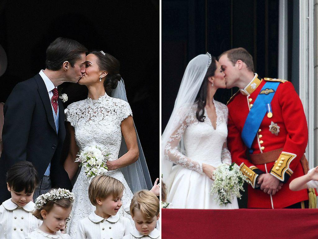 Hochzeitsküsse von James Matthews & Pippa Middleton und Herzogin Kate & Prinz William