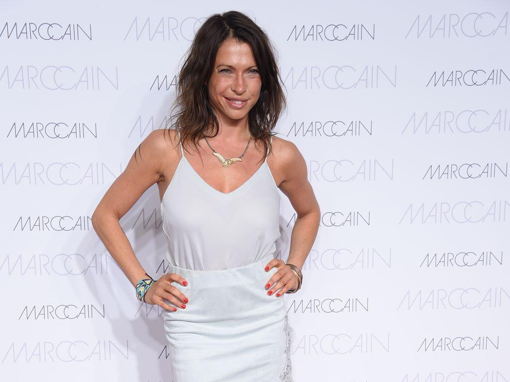 Jana Pallaske auf dem Red Carpet der Marc Cain Show 2016