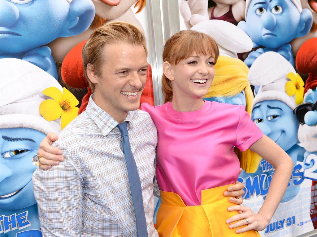 """Jayma Mays und Adam Campbell auf der """"Die Schlümpfe 2""""-Premiere in Westwood"""