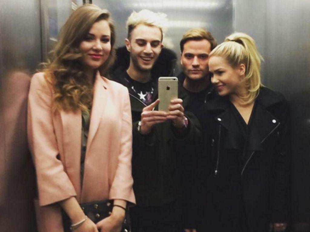 Rocco Stark, Angelina Heger, Joelina Drews und Marc Aurel Zeeb