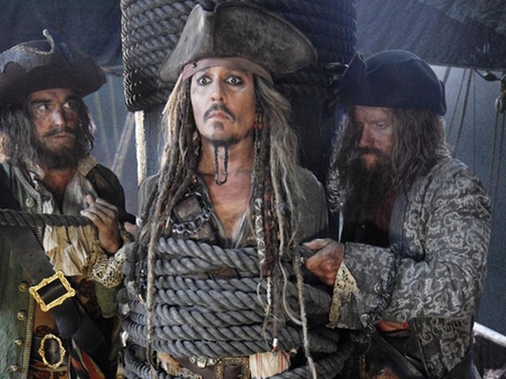 """Johnny Depp in """"Fluch der Karibik"""" 5"""