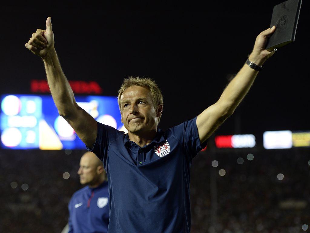 Jürgen Klinsmann beim Spiel Mexiko - USA