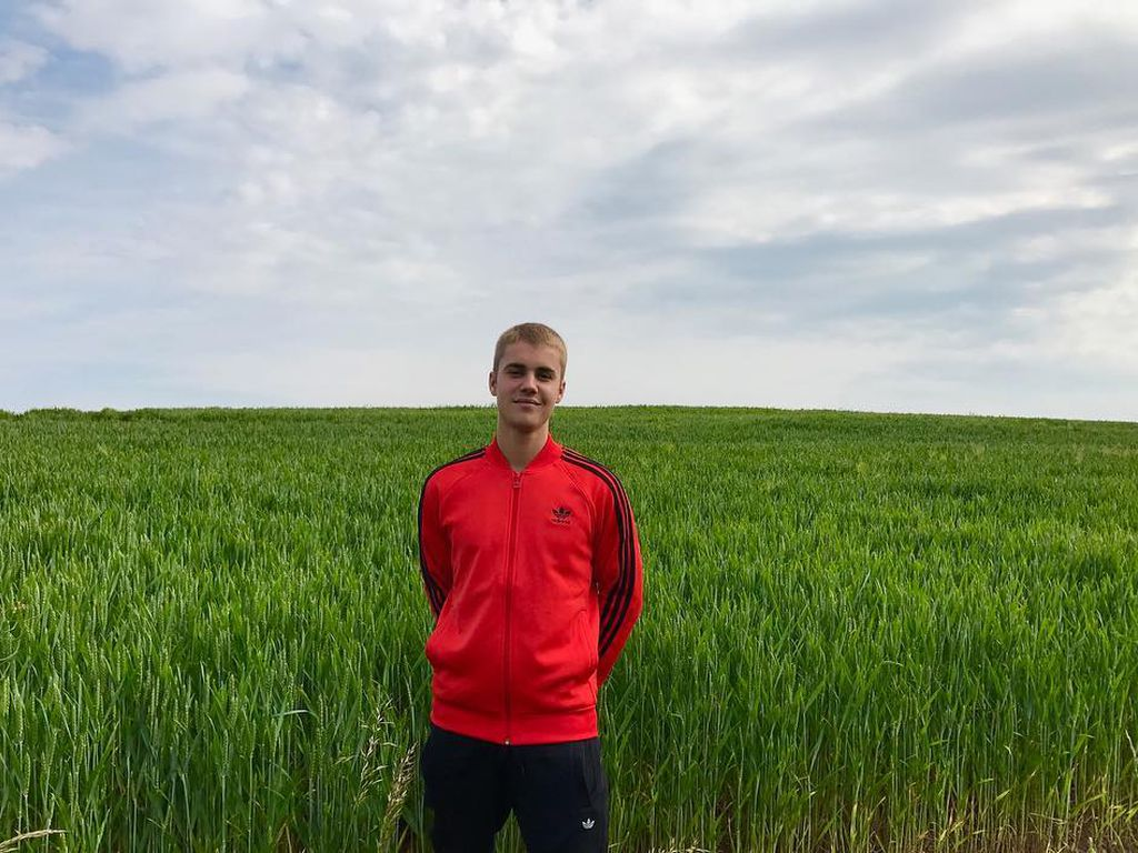Justin Bieber in der Natur