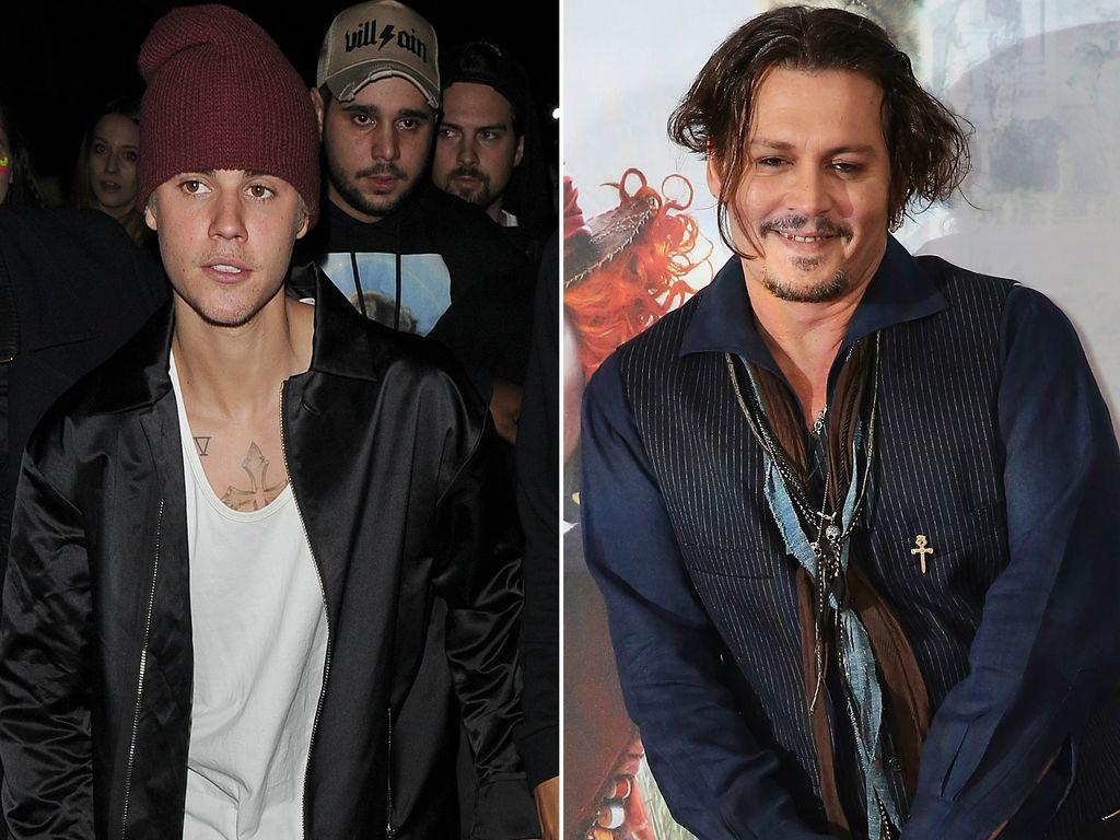 Justin Bieber und Johnny Depp