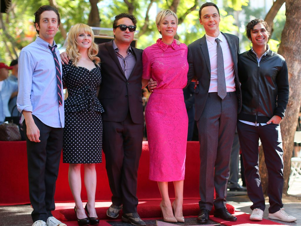 Kaley Cuoco, Johnny Galecki, Jim Parsons und Simon Helberg