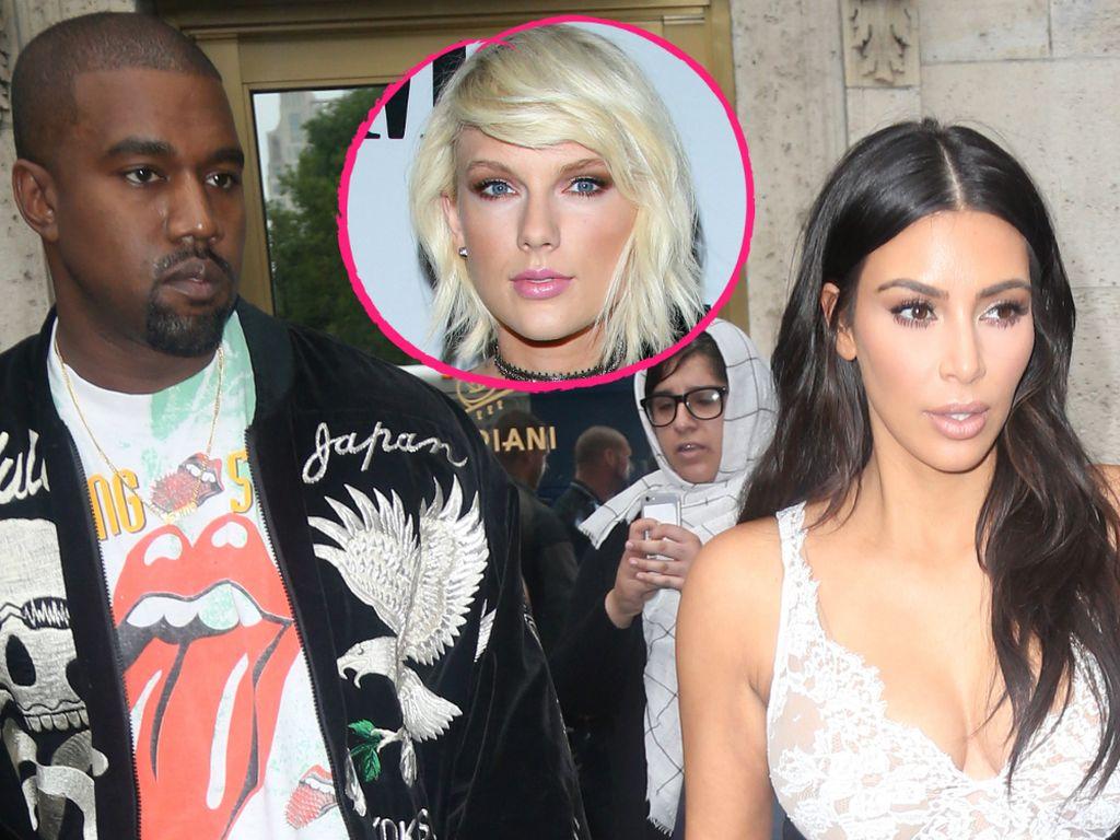 Kanye West, Taylor Swift und Kim Kardashian