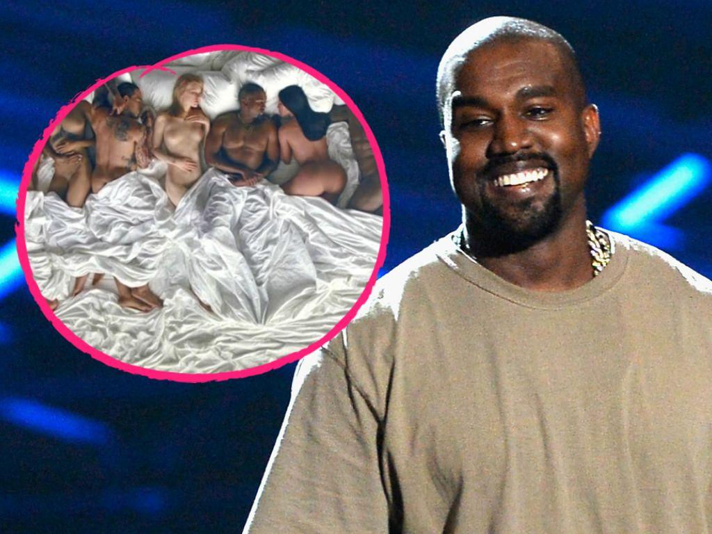 Kanye West und die Wachsfiguren aus seinem Musikvideo