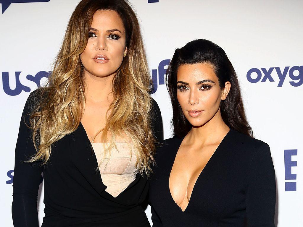 Khloe und Kim Kardashian bei einem Auftritt in New York