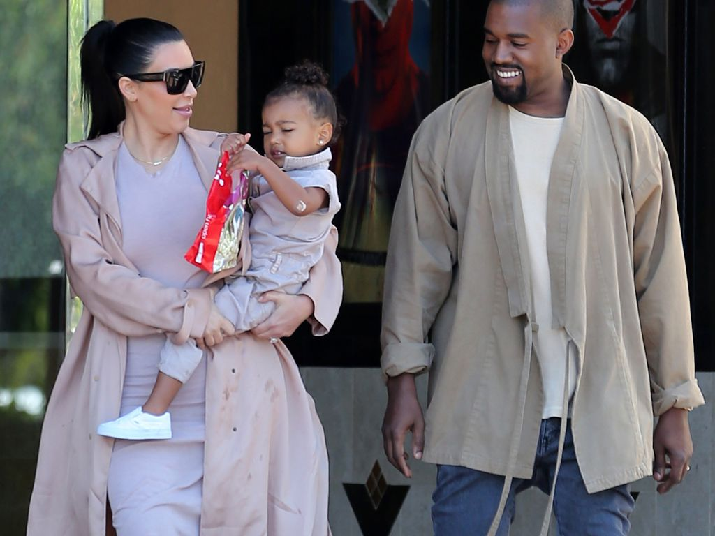 Kim Kardashian, Kanye West und North West