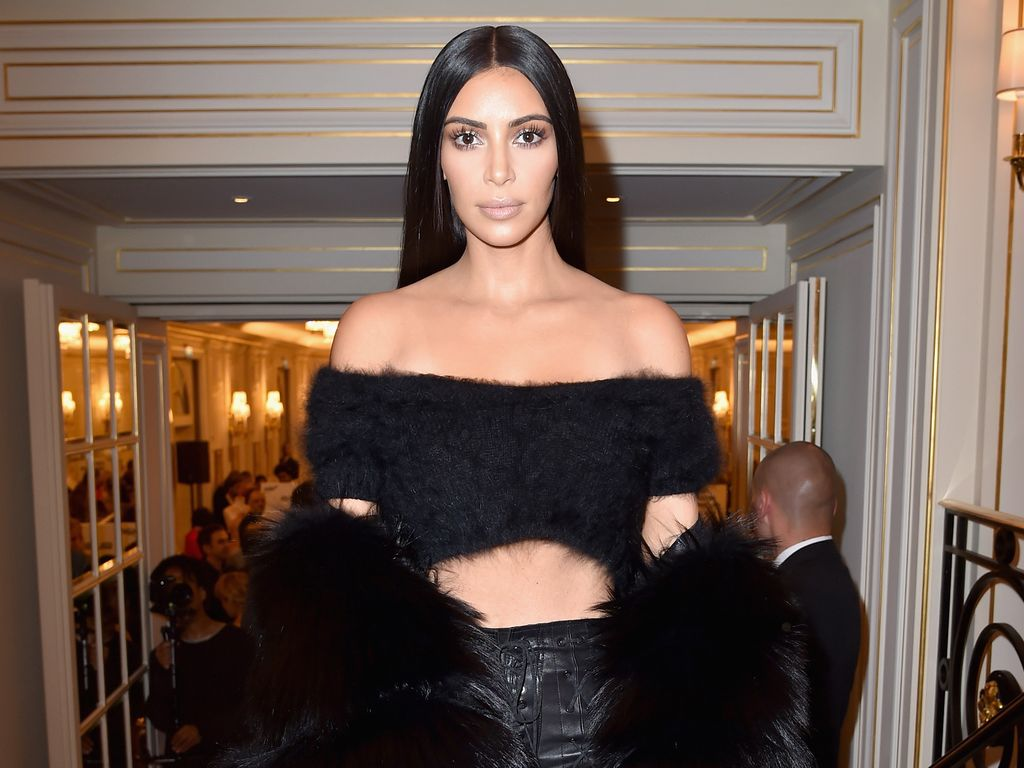Kim Kardashian auf der Pariser Fashion Week