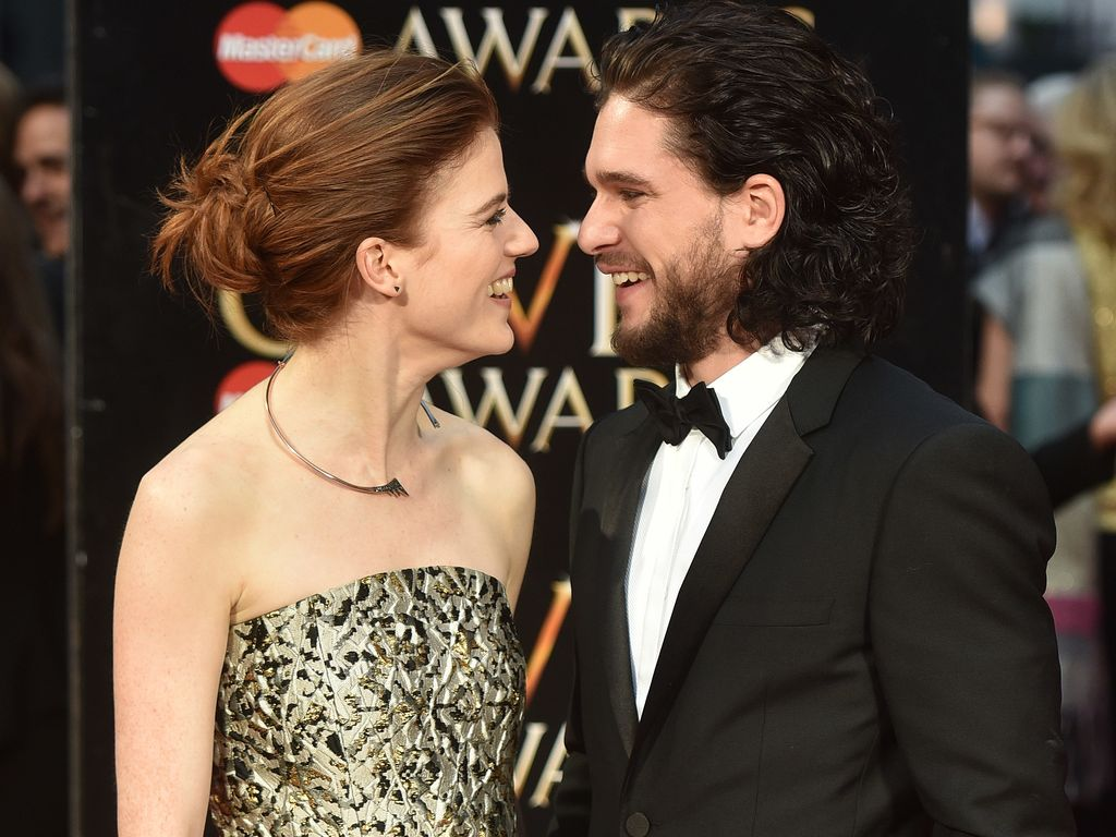 Rose Leslie und Kit Harington bei den Olivier Awards 2016