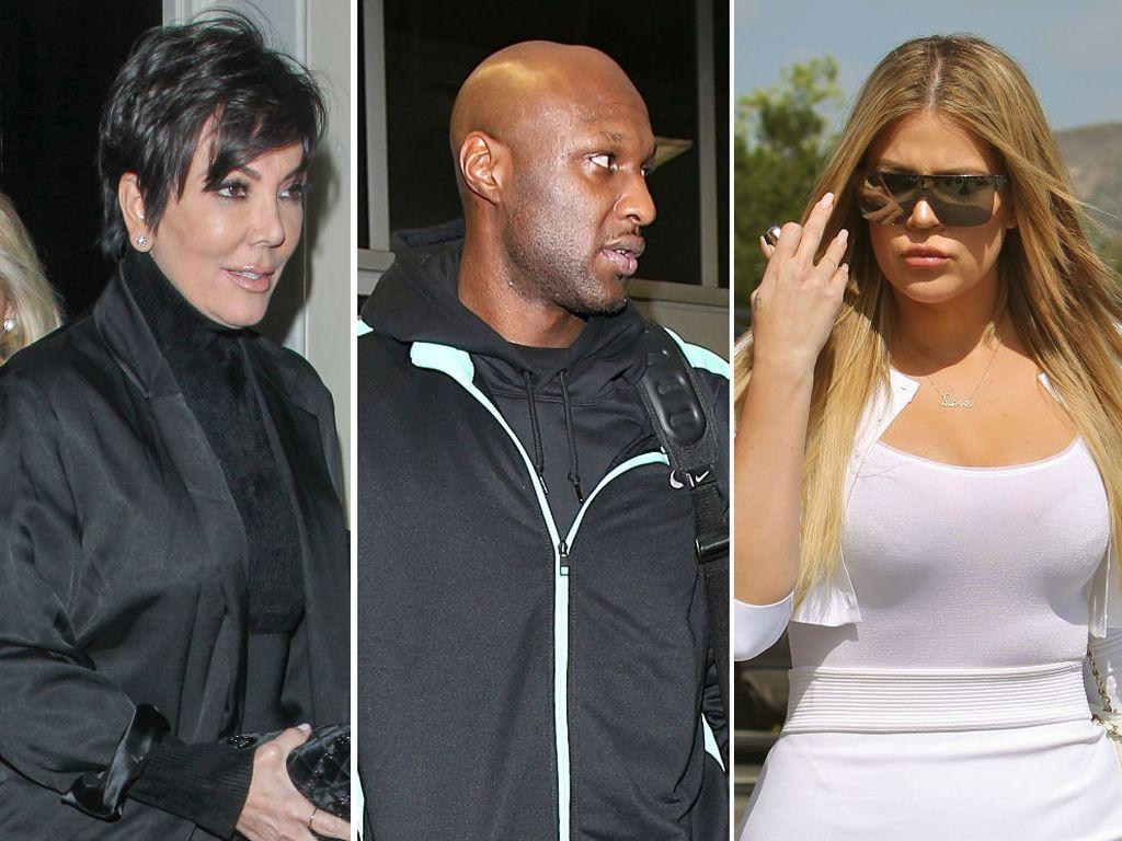 Khloe Kardashian, Kris Jenner und Lamar Odom
