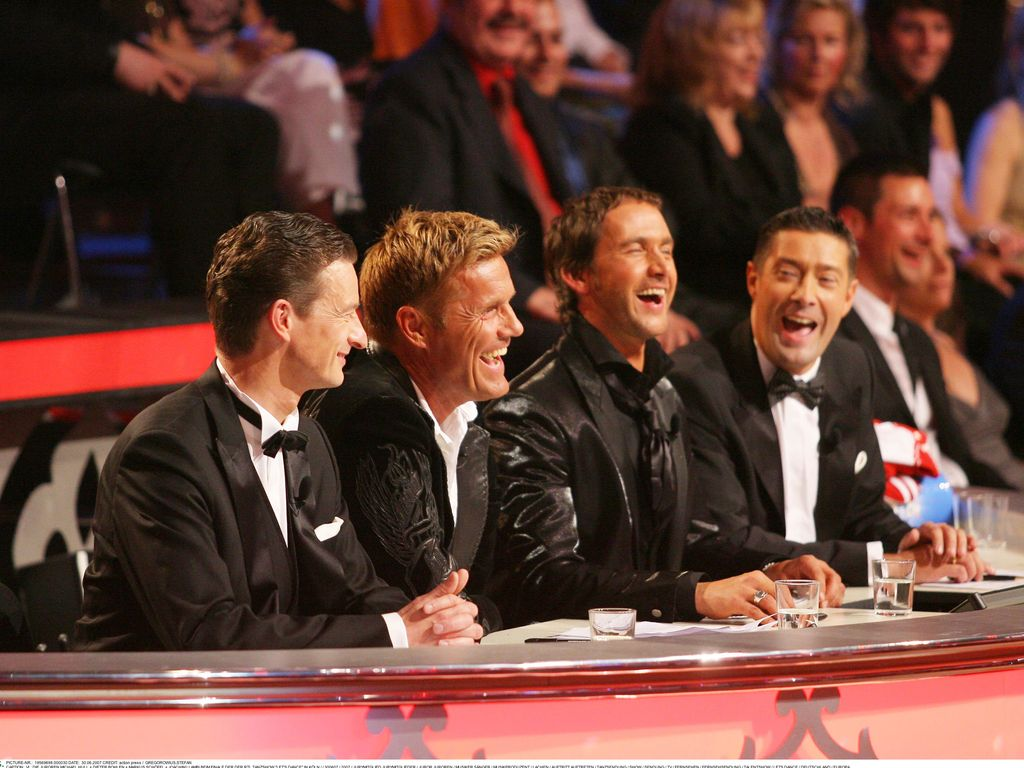 """Let' Dance""-Jury 2007: Michael Hull, Dieter Bohlen, Markus Schöffl und Joachim Llambi (v.l.)"