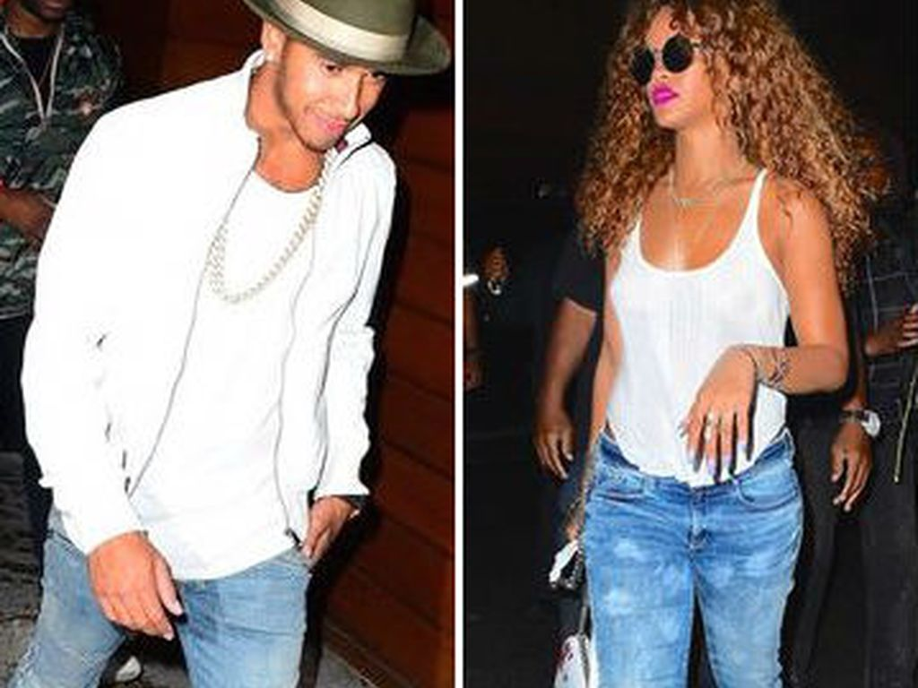 Rihanna und Lewis Hamilton
