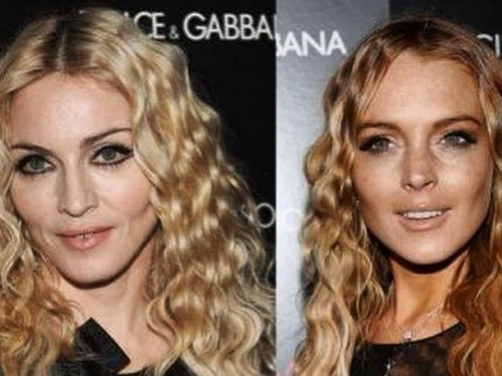 Madonna und Lindsay Lohan