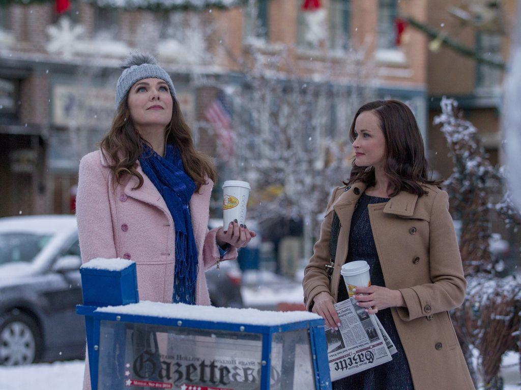 Lorelei und Rory Gilmore im Schnee