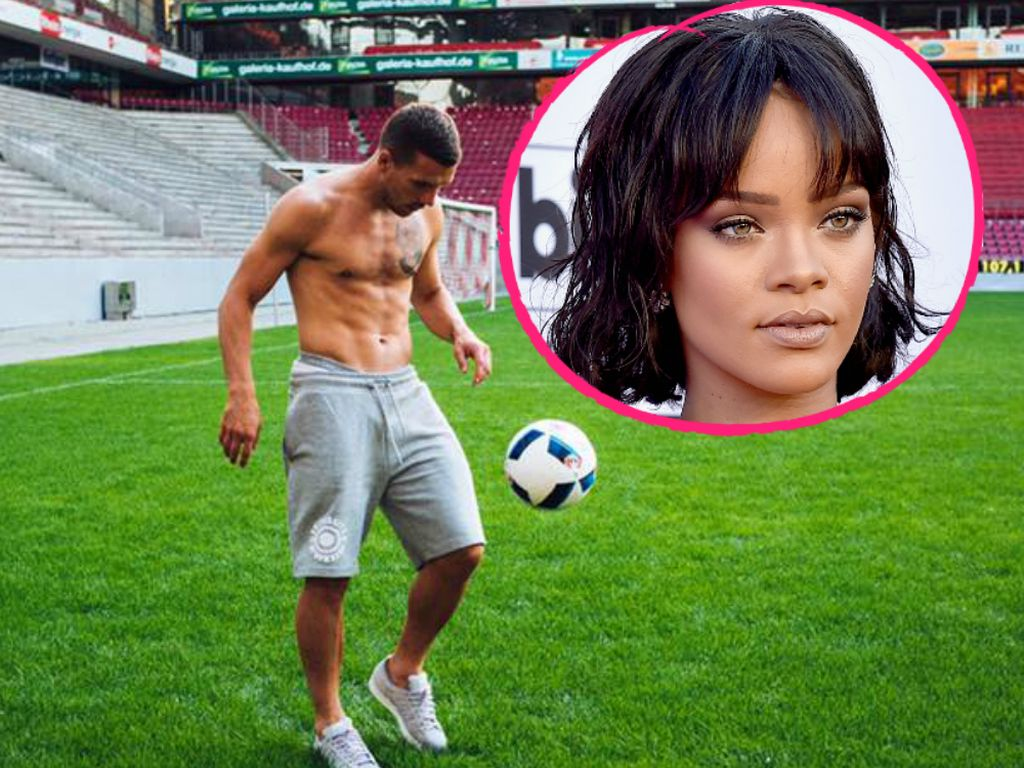 Lukas Podolski und Sängerin Rihanna