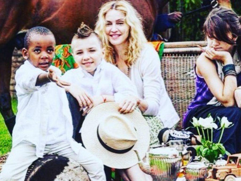Madonna, Rocco Ritchie, Lourdes und David Banda Mwale