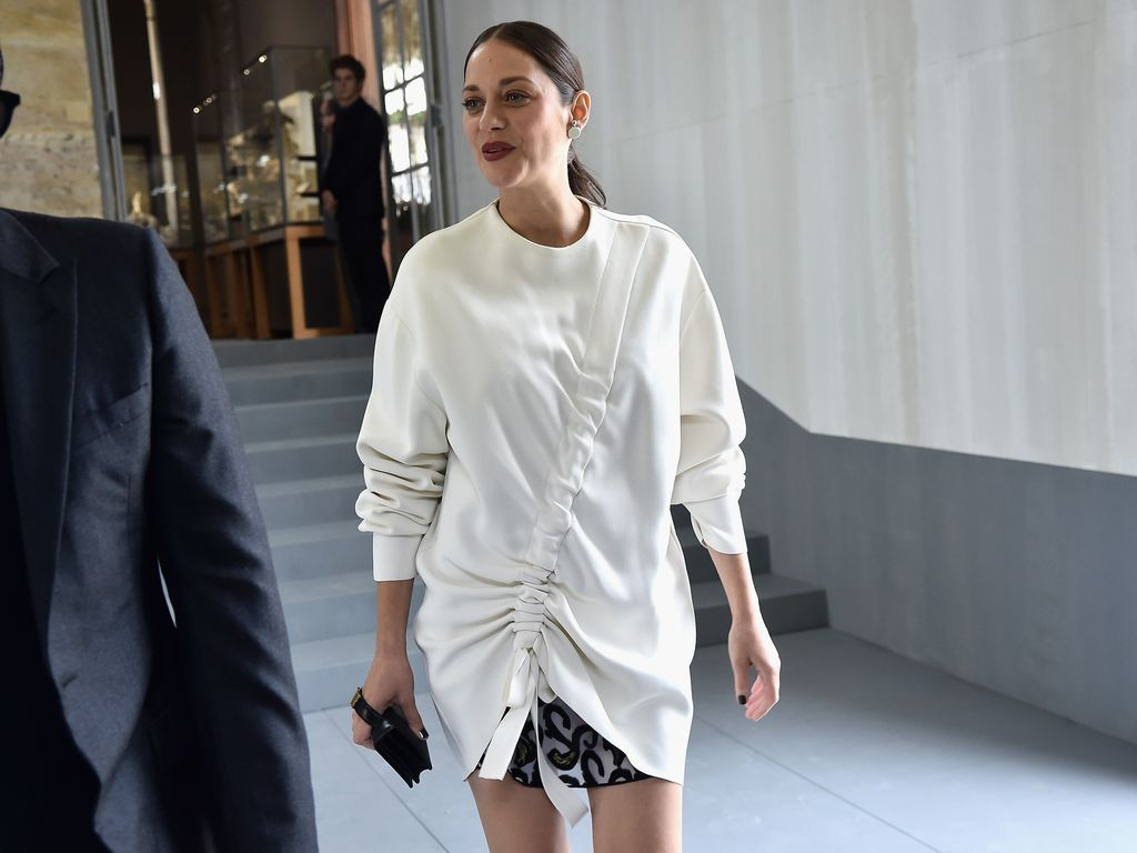 Marion Cotillard auf der Fashion Week in Paris