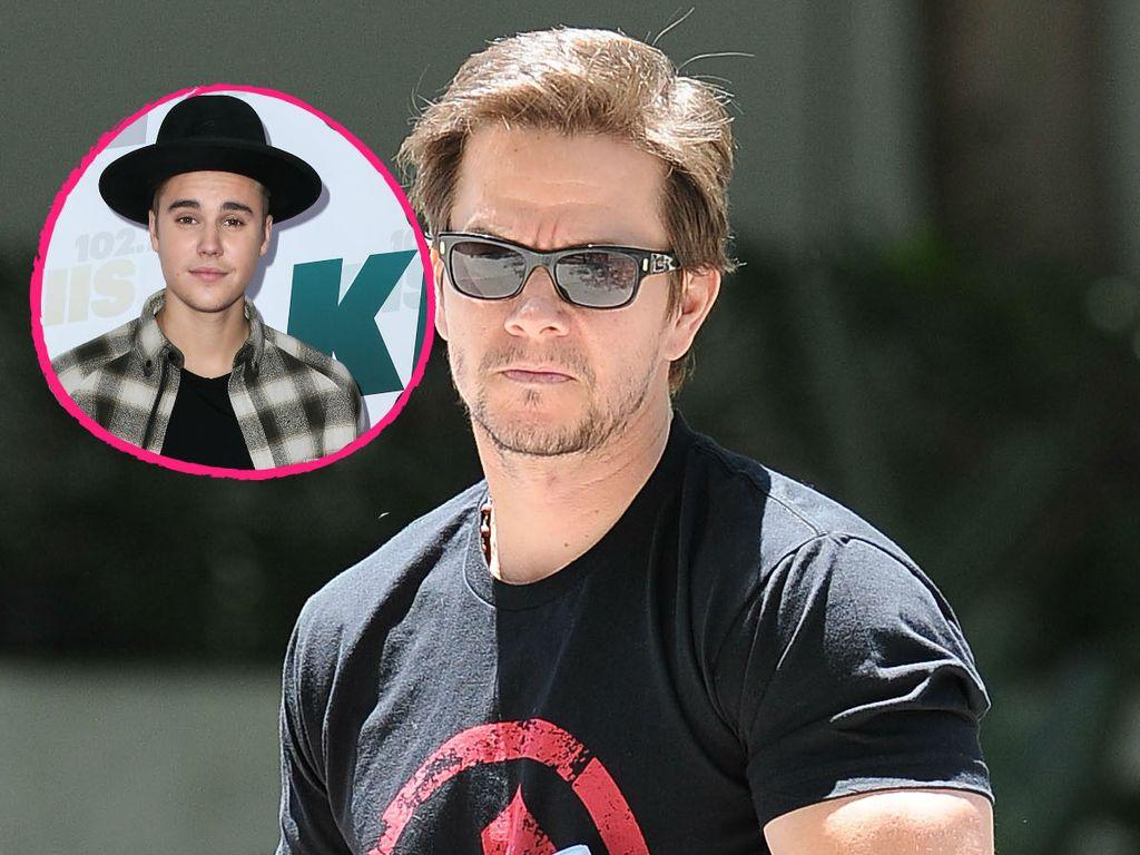 Justin Bieber und Mark Wahlberg