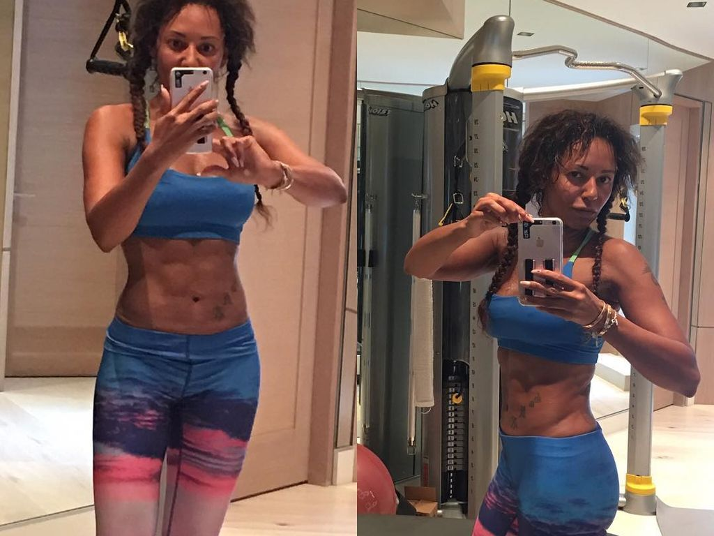 Mel B. im Fitnessstudio