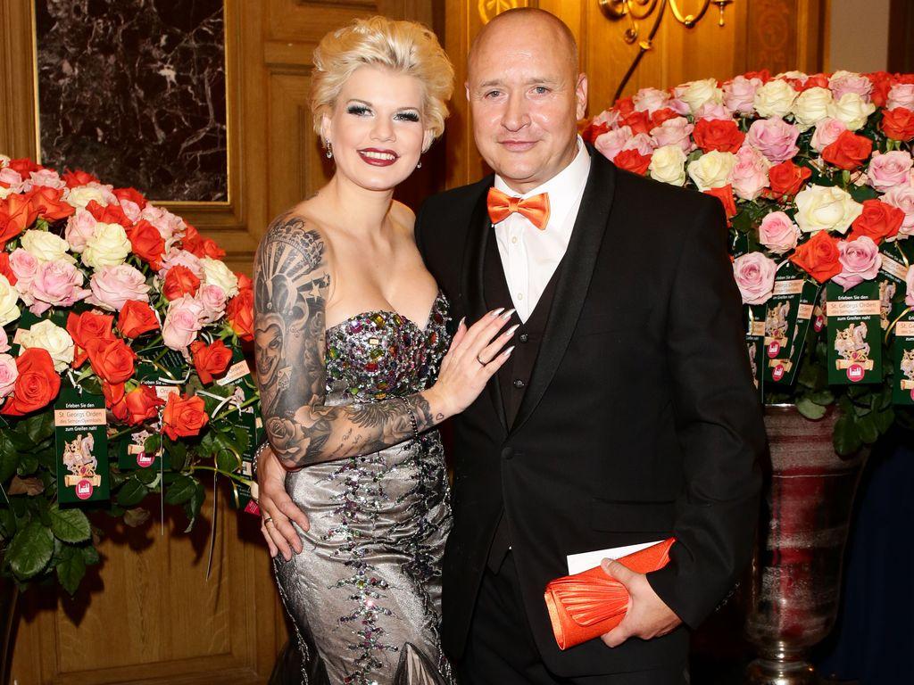 Melanie Müller und Mike Blümer beim Semper Opernball 2016 in Dresden