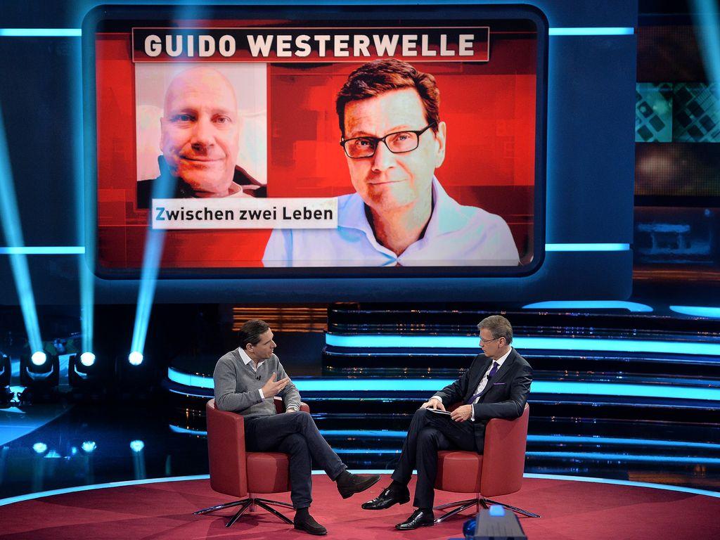 Günther Jauch und Guido Westerwelle