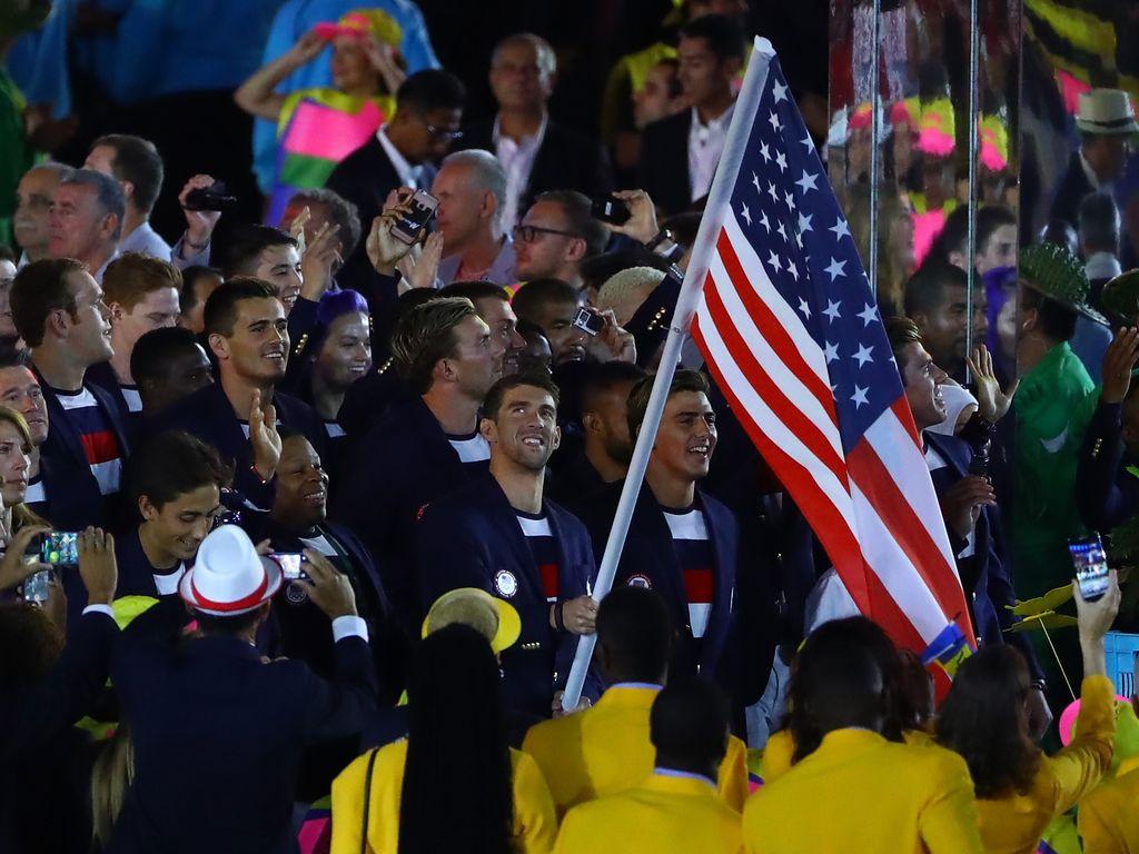 Michael Phelps bei der Eröffnungszeremonie der Olympischen Spiele 2016