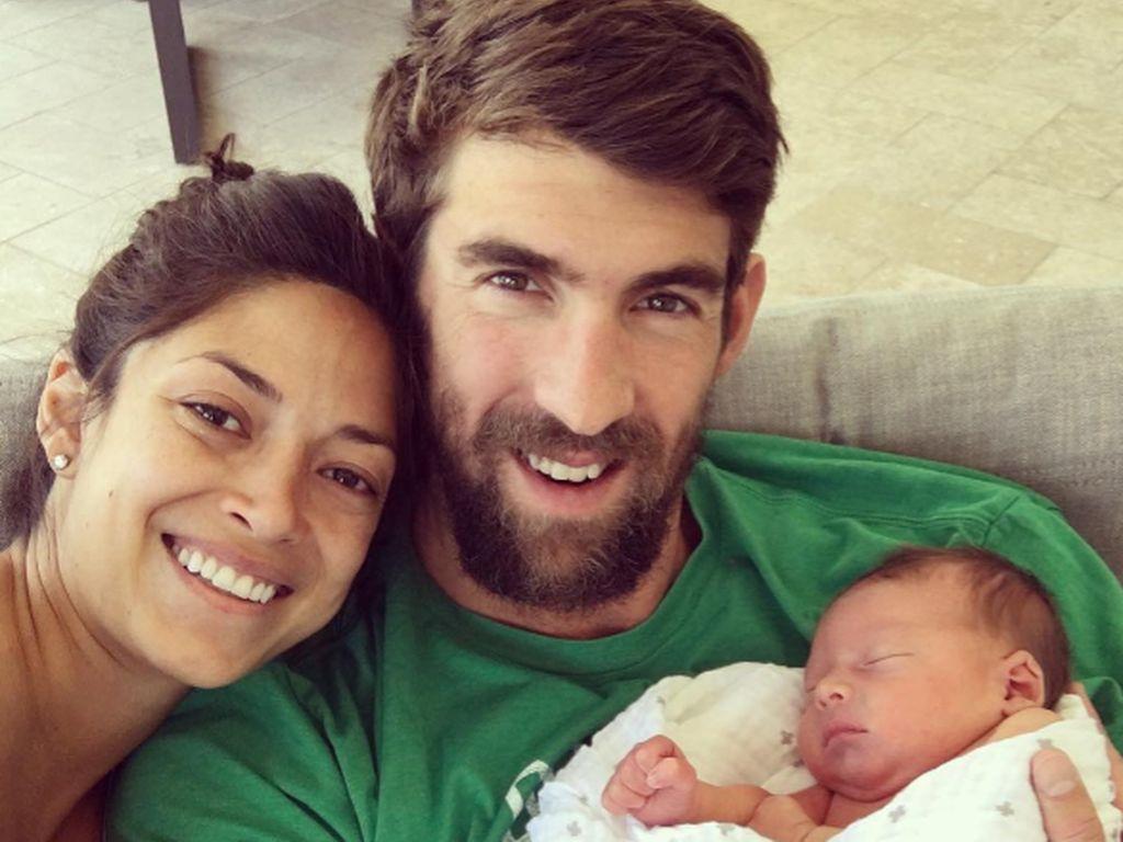 Nicole Johnson, Michael Phelps und ihr Sohn Boomer