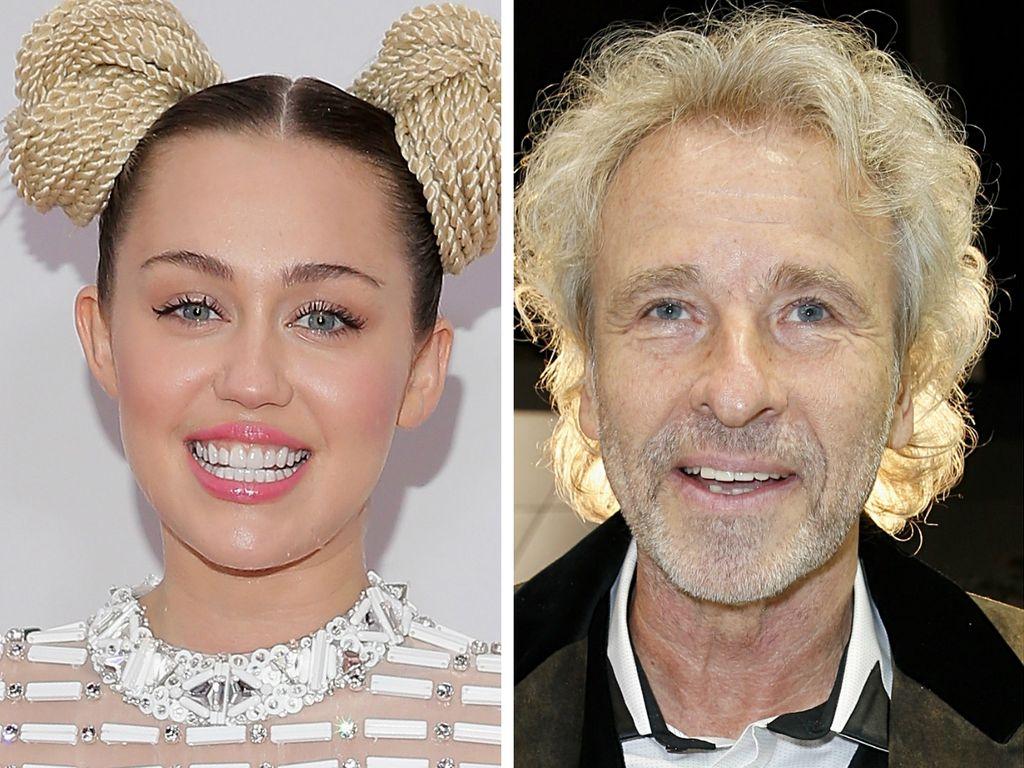Miley Cyrus und Thomas Gottschalk