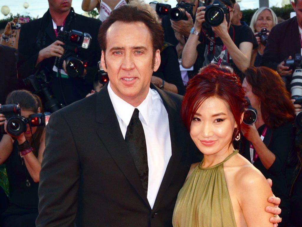 Nicolas Cage und Alice Kim bei den Filmfestspielen in Venedig