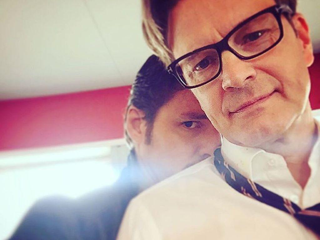 "Pedro Pascal und Colin Firth am Set von ""Kingsman 2"""