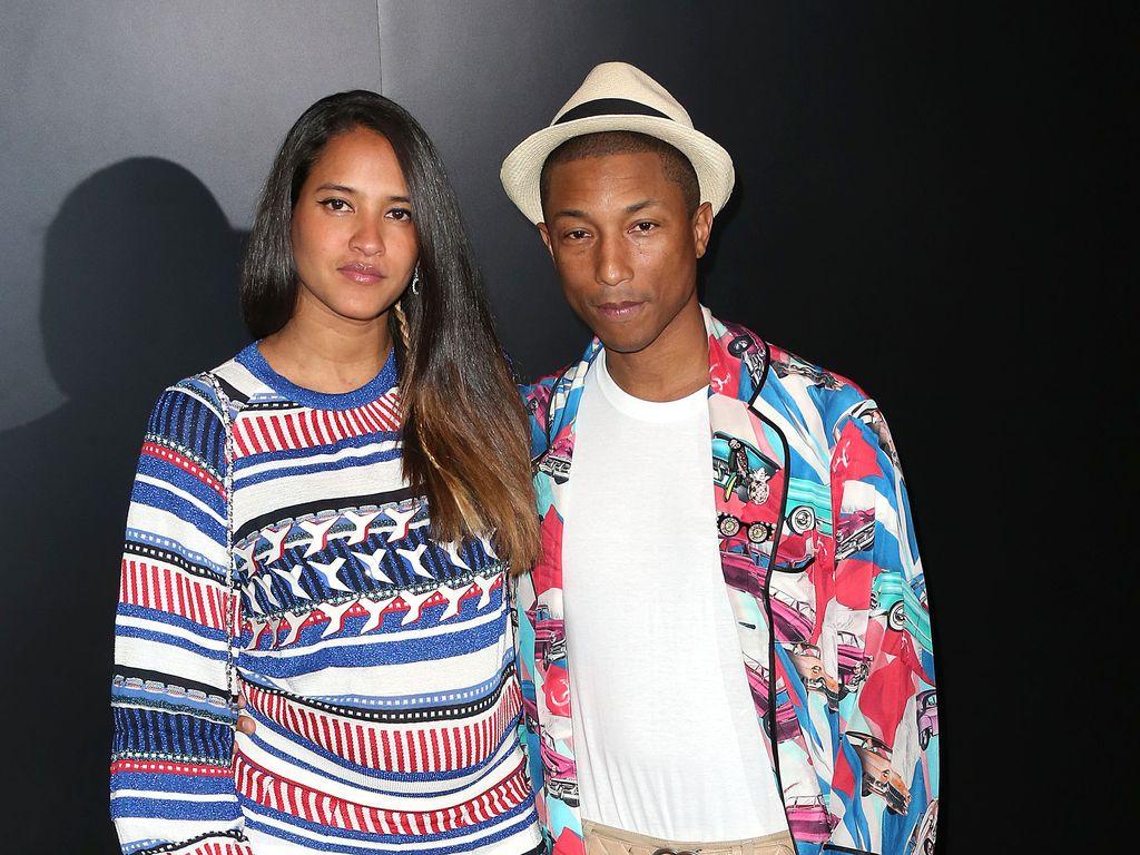 Pharrell Williams mit seiner schwangeren Frau Helen Lasichanh