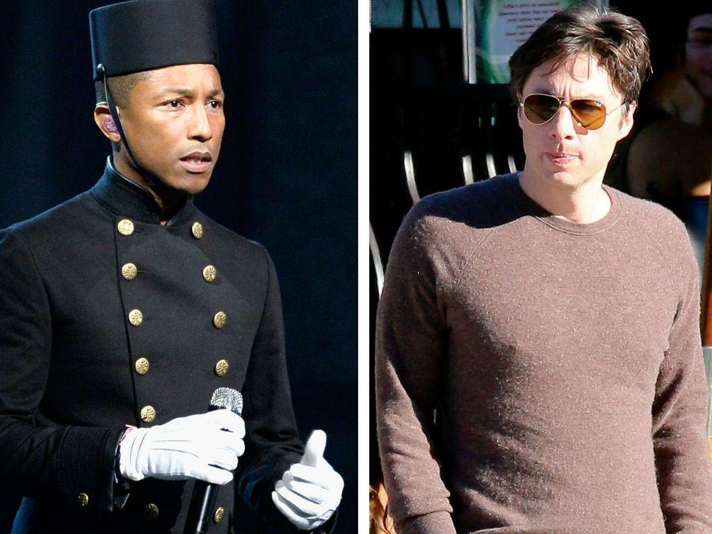 Zach Braff und Pharrell Williams
