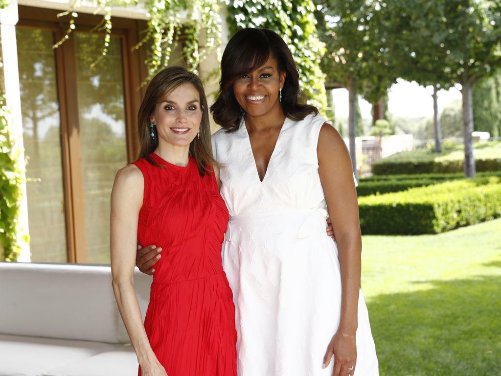 Prinzessin Letizia von Spanien und Michelle Obama