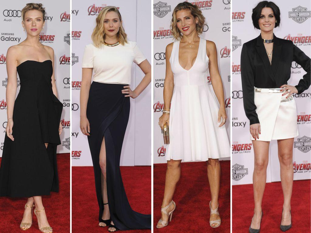 Elizabeth Olsen, Elsa Pataky, Scarlett Johansson und Jaimie Alexander
