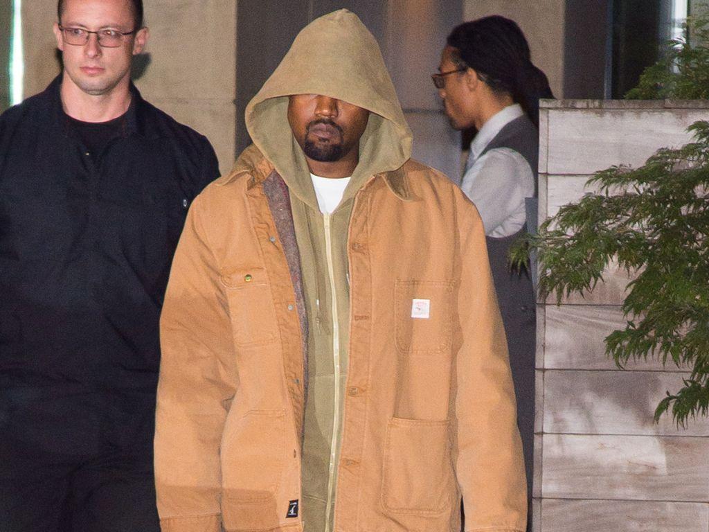 Rapper Kanye West in New York kurz nach dem Raubüberfall auf Kim Kardashian