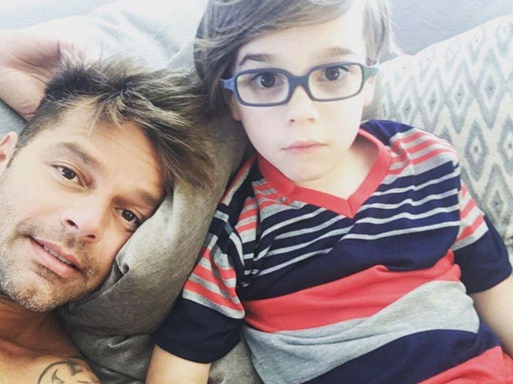 Ricky Martin und sein Sohn