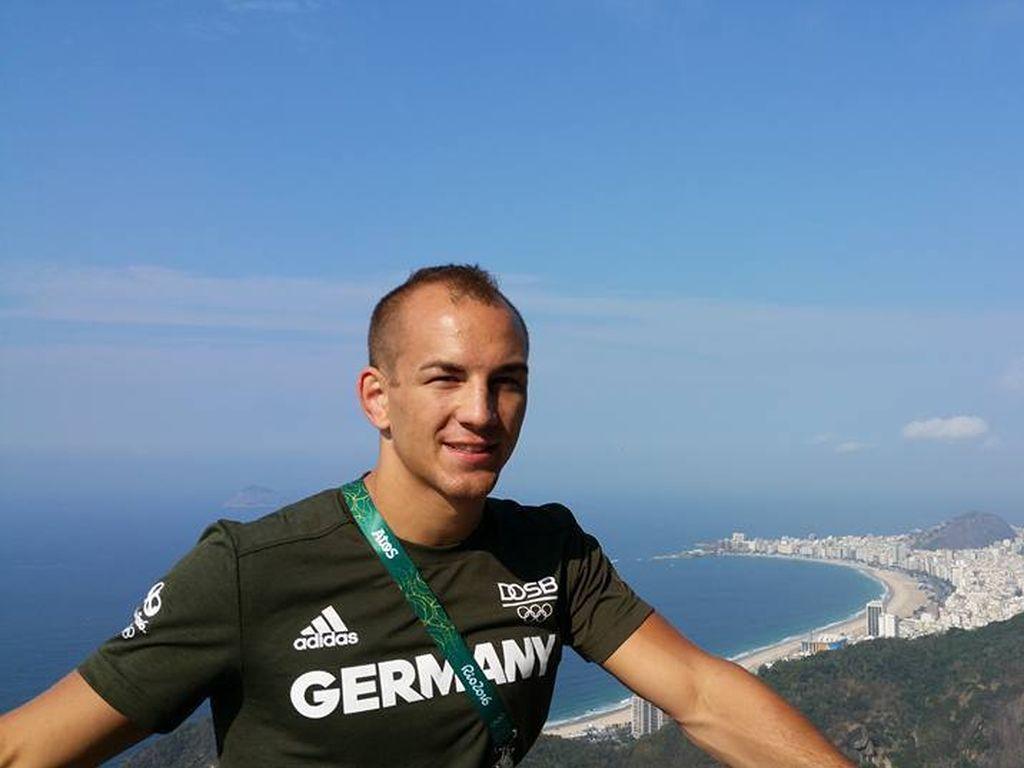 Ringer-Weltmeister Frank Stäbler an der Copacabana