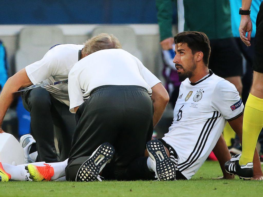 Sami Khedira verletzt beim EM-Spiel Deutschland gegen Italien