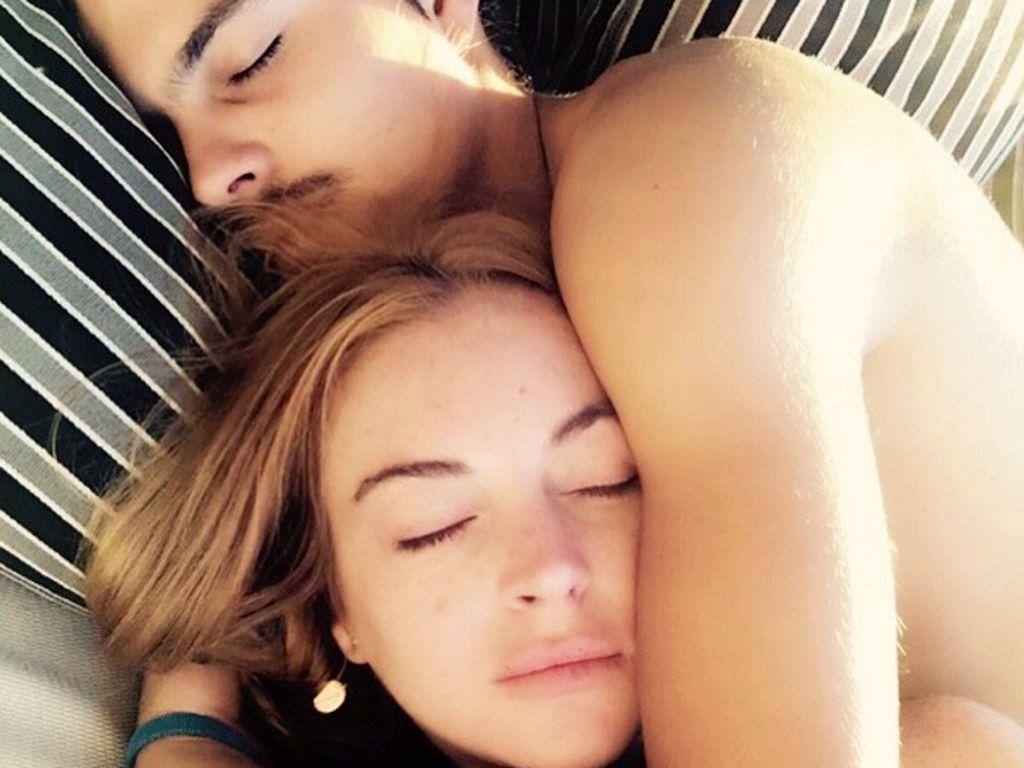 Schauspielerin Lindsay Lohan mit Freund Egor