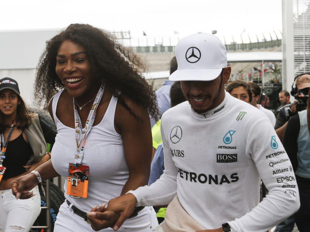 """Serena Williams und Lewis Hamilton beim """"Großen Preis von Mexico"""""""