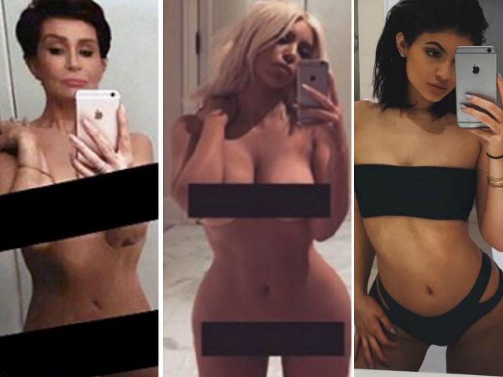 Kylie Jenner, Kim Kardashian und Sharon Osbourne