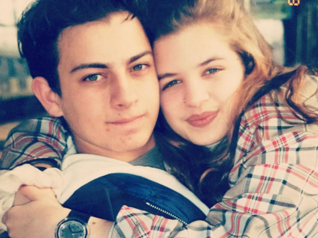 Susan Sideropoulos mit ihrer damaligen Jugendliebe und heutigem Ehemann