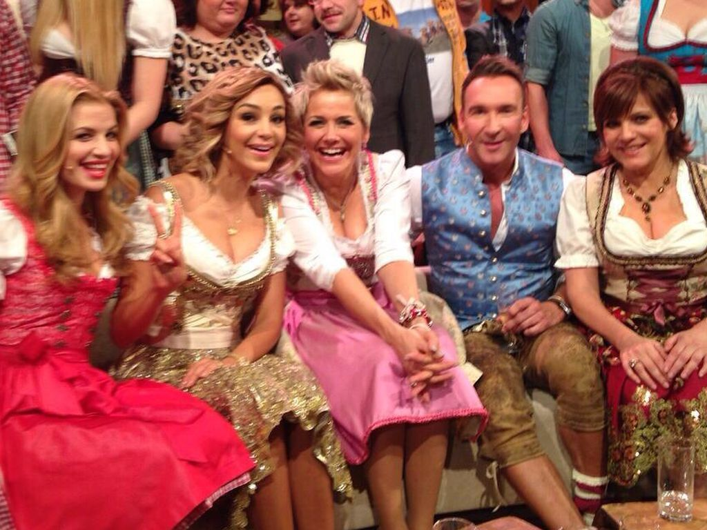 Inka Bause, Susan Sideropoulos, Verona Pooth, Jochen Bendel und Birgit Schrowange